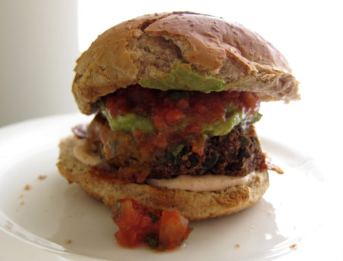 black bean burger