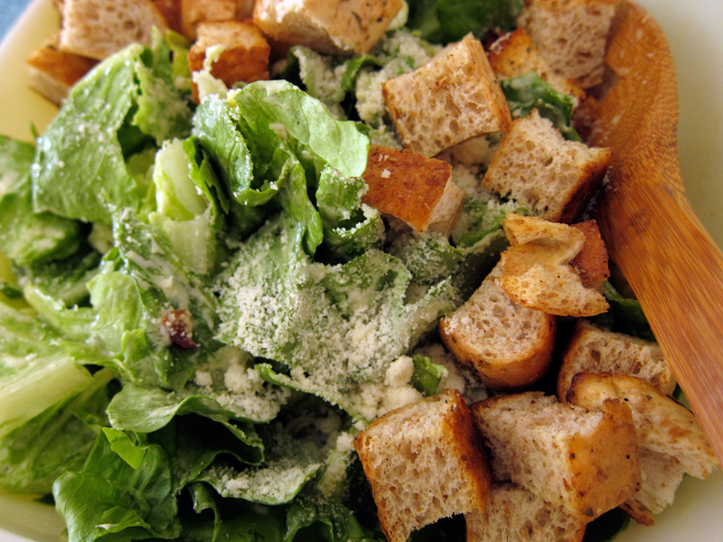 simple caesar salad – no raw eggs required | Everybody Likes Sandwiches