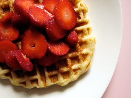 vegan cornmeal lemon waffles