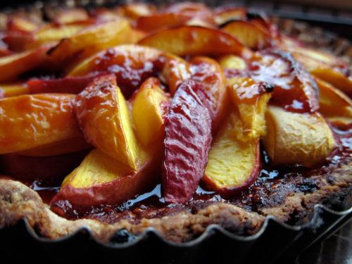burnt nectarine tart