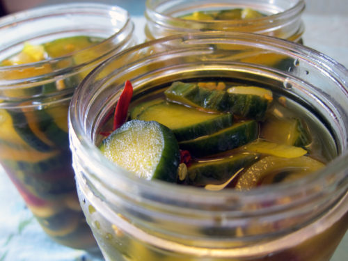 jars, pre-freeze pickles