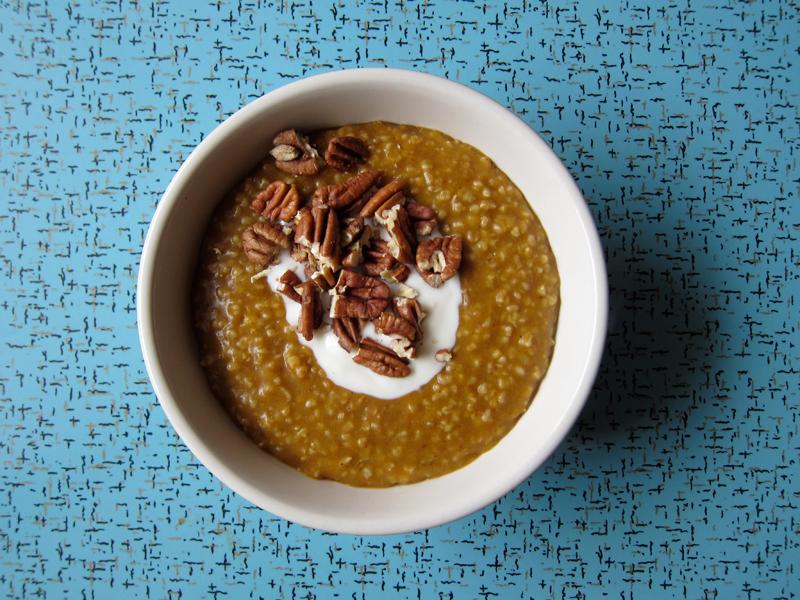 pumpkin spice steel cut oatmeal