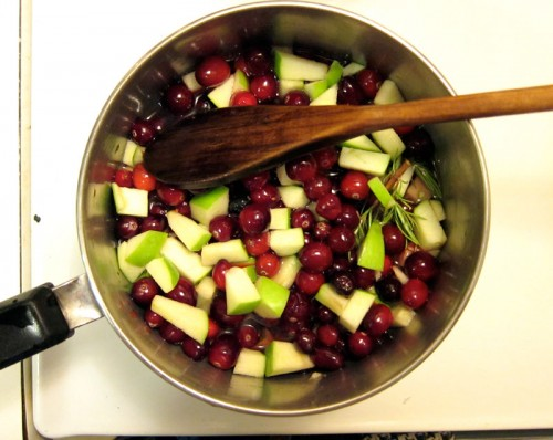 cranberry rosemary apple sauce