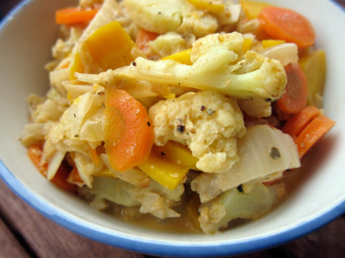 creamed carrots & cauliflower