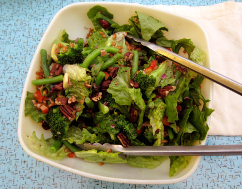 farro & greens cranberry salad