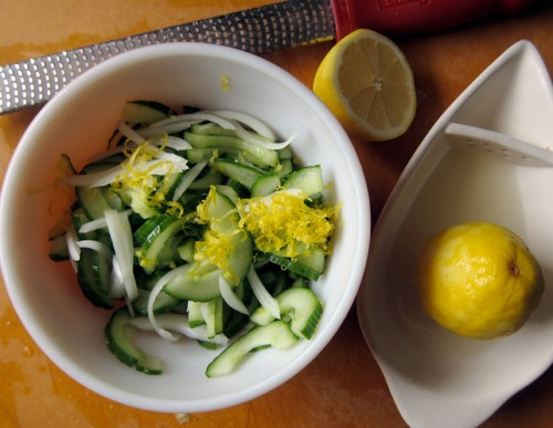 lemon, onion & cucumber salad