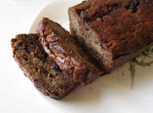 banana espresso chocolate chip bread
