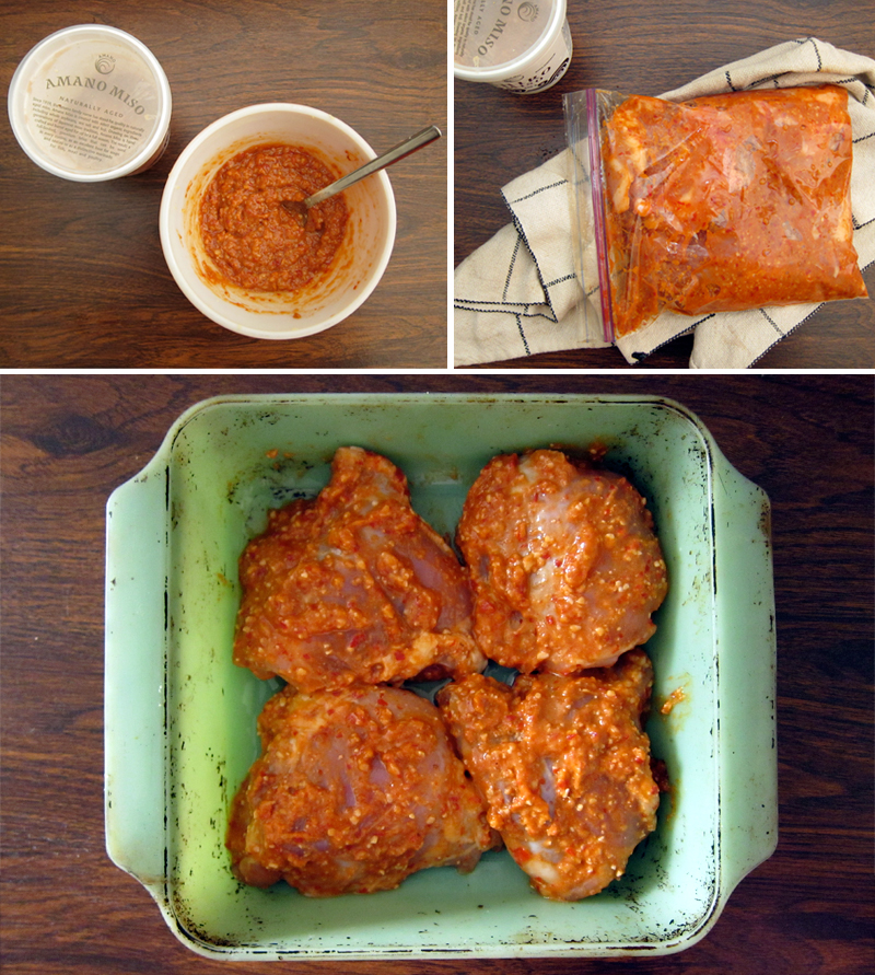 make this now: roasted chicken thighs with miso and ginger | Everybody ...