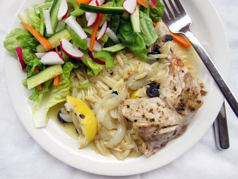 chicken and orzo with lemon and olives   Everybody Likes ...