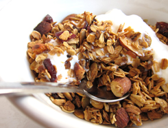 dig into a morning bowl of granola