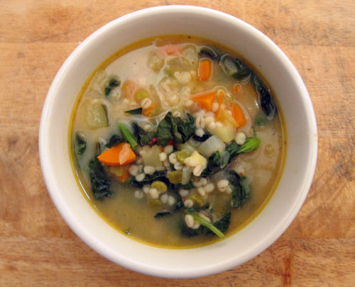 barley, split pea & greens soup