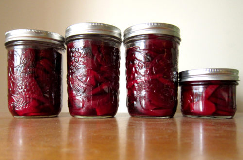 pickled beets, canned