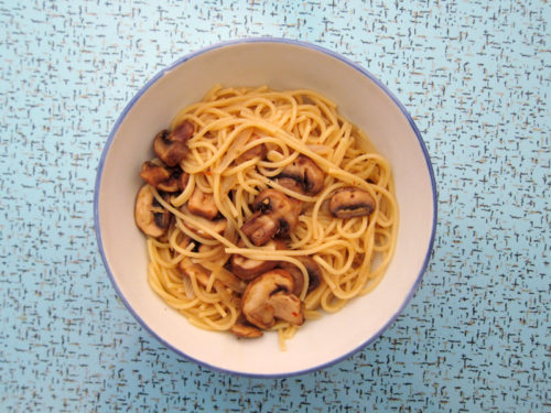 spaghetti & mushrooms