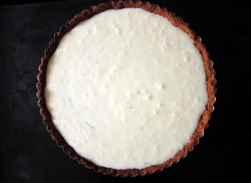 key lime pie, unbaked