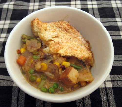 smoked tofu & vegetable pot pie