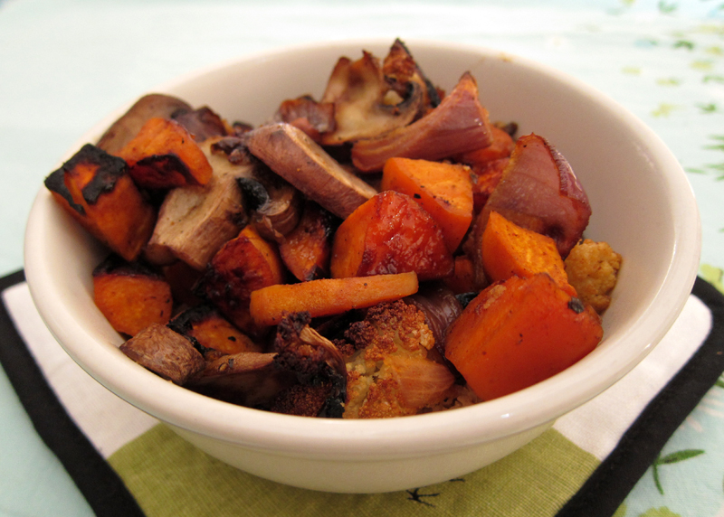 roasted mushrooms & yams