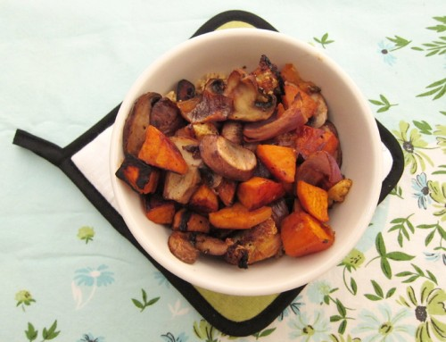 roasted mushrooms & yams