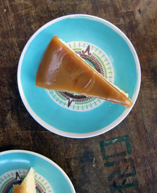 slice of caramel cake