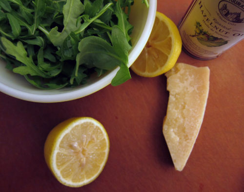 super simple arugula salad | everybody likes sandwiches