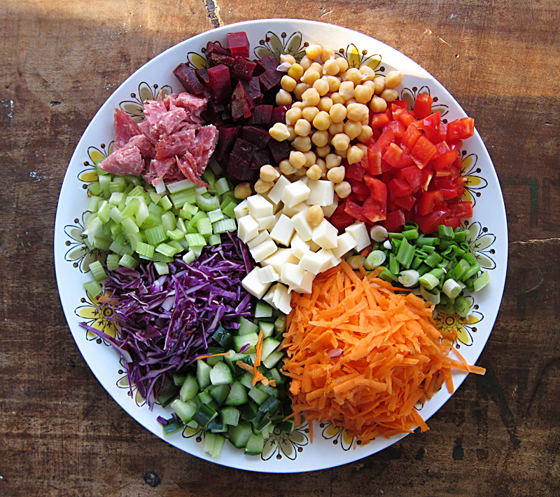Jump on the salad party bandwagon chopped salad platter everybody chopped salad platter everybody likes sandwiches forumfinder Gallery