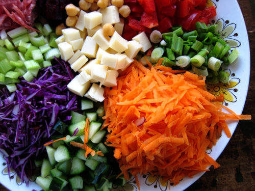 chopped salad platter | everybody likes sandwiches