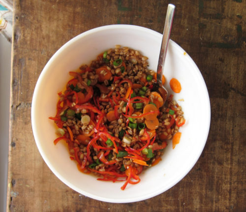 warm or cold farro salad | everybody likes sandwiches