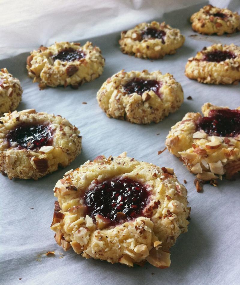 Love Is….raspberry Jam Thumbprint Cookies