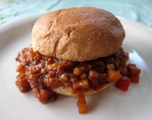 apple-lentil slappyjoes | everybody likes sandwiches