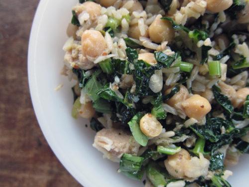 lemony tuna salad with kale, chickpeas & brown rice   everybody likes sandwiches