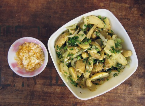 fingerling potato salad with pickled celery | everybody likes sandwiches