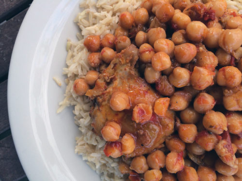 roasted chicken with harissa chickpeas   everybody likes sandwiches