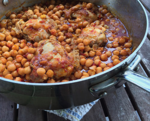 roasted chicken with harissa chickpeas | everybody likes sandwiches