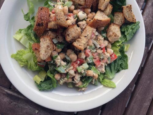 chickpea, tuna & onion salad with creamy lemon dressing   everybody likes sandwiches