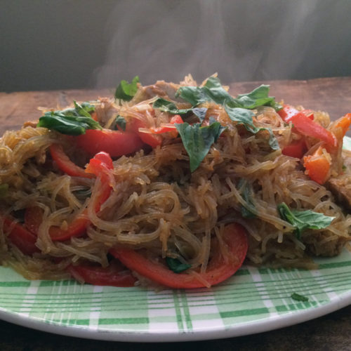 singapore noodles with chicken, peppers & basil...and a Mark Bittman cookbook giveaway!! | everybody likes sandwiches