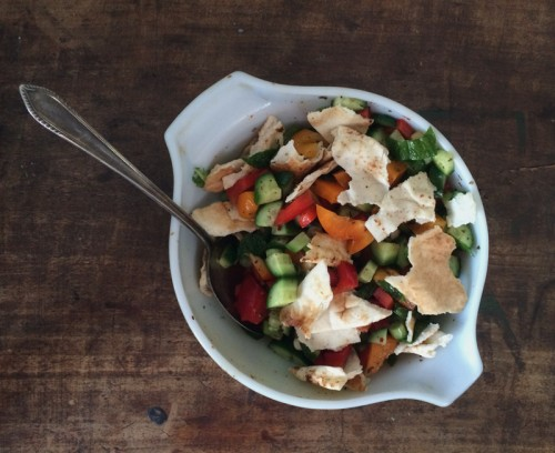creamy fattoush salad | everybody likes sandwiches